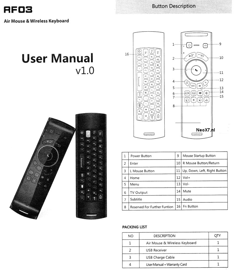 user manual mele f10