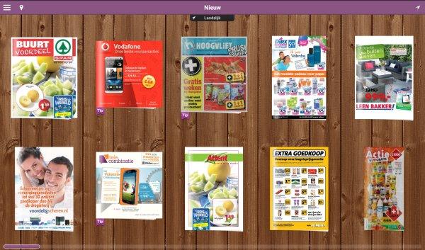 reclamefolders in app
