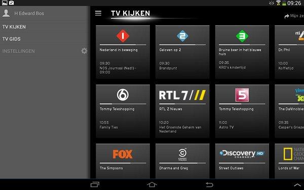 upc horizon apps zender overzicht